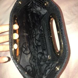 MICHAEL Michael Kors Bags - MICHAEL Michael Kors Berkley Black Python Clutch